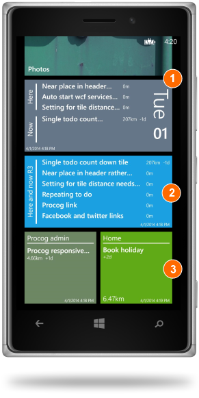Here and Now - Live Tiles